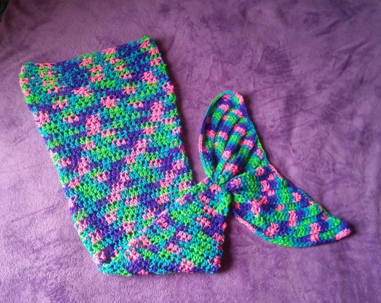 Crochet Mermaid Tail Custom Made To Order Newborn To Adult