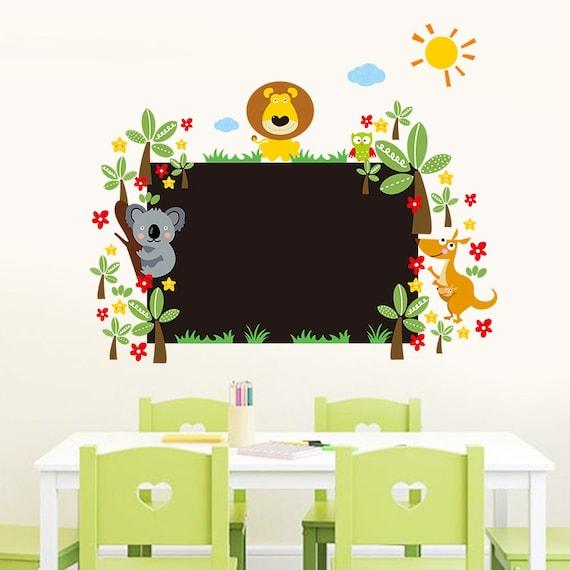 Decorative Lion Chalkboard Wall Decal by CuteStickersCom