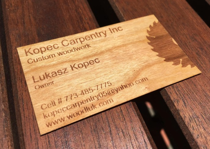 Wood Business Cards with Bleed Engraving/Business Cards with