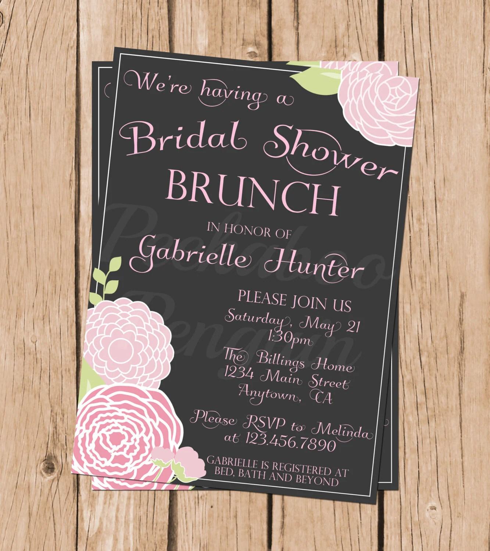 Breakfast Bridal Shower Invitations
