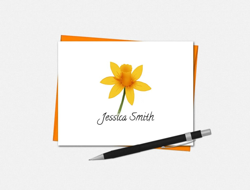 Personalized Daffodil Not...