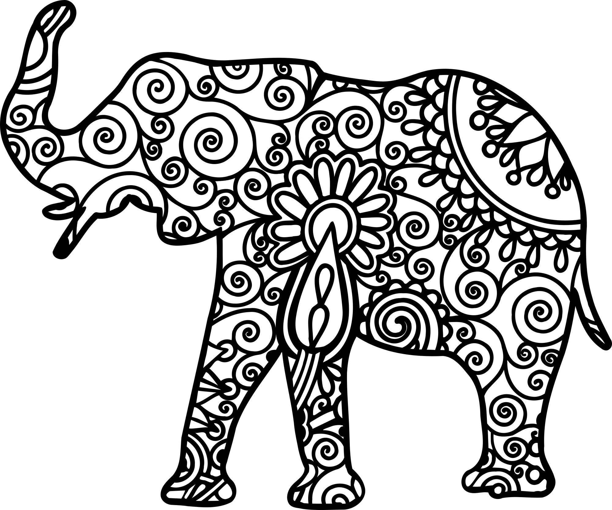 Pintar Tsum Eeyore Coloring Stitch Dibujos: Mandala Elephant Svg