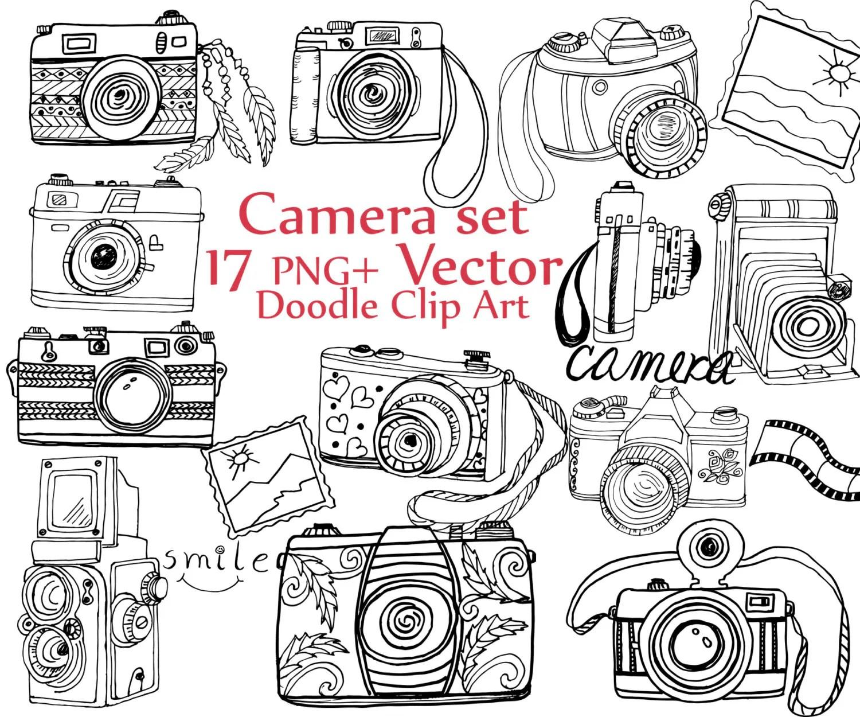 Doodle Camera Clipart Camera Clip Art Camera