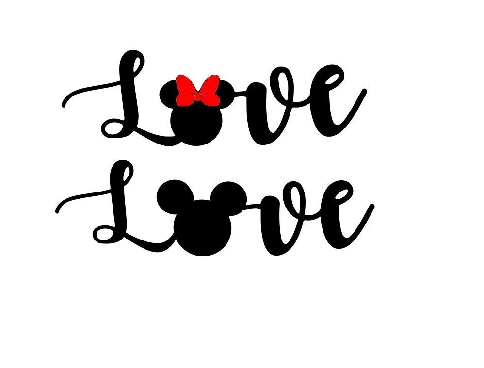 Download Love Mickey Mouse SVG DXF PNG included design for cricut or