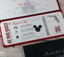 Disney Wedding Invitations | Ticket with Be Our Guest