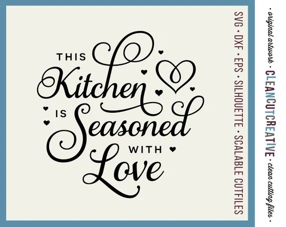 Download SVG Kitchen Seasoned with Love svg apron towel kitchen svg