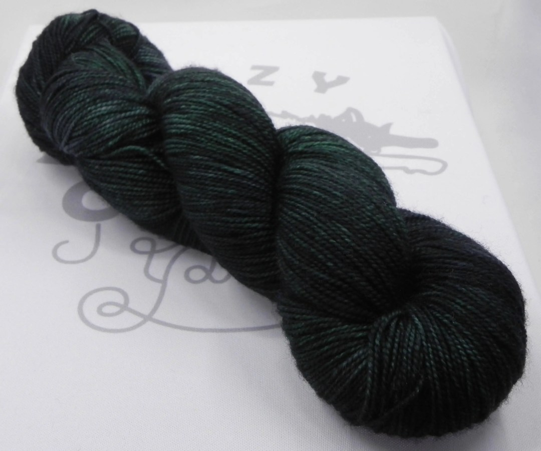 Whispering Forest: 400 yards 100% Superwash Merino fingering weight yarn in Elemental yarn base.