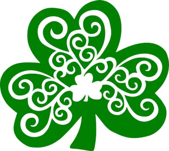 Download Shamrock Swirl St. Patrick's Day SVG Digital Download