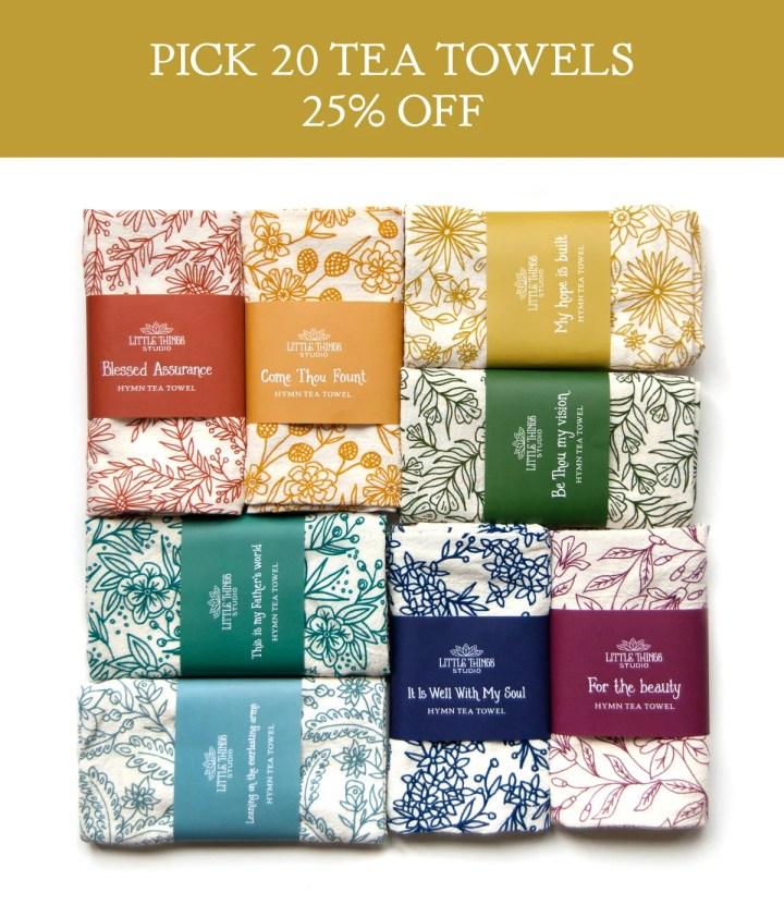 Pick 20 Hymn Tea Towels |...