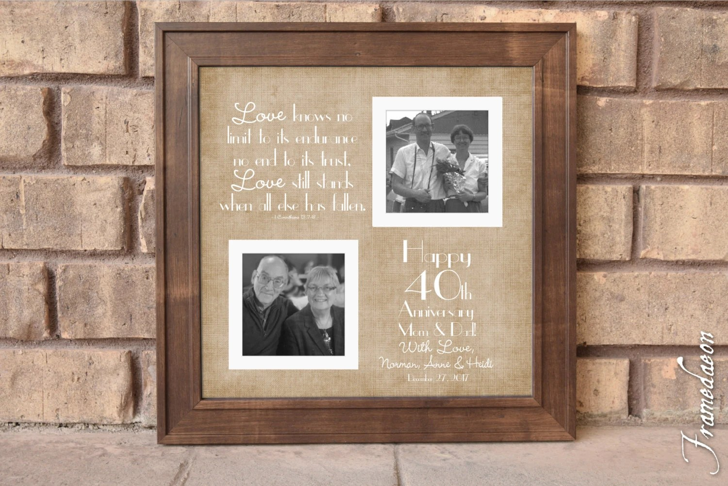 40th Wedding Anniversary Gift Anniversary Gift For Mom Dad