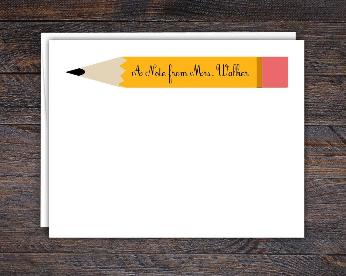 Personalized Pencil Note ...