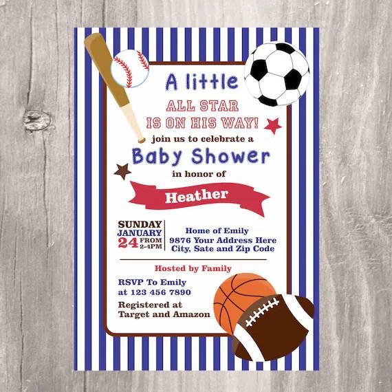 Custom Made Baby Shower Invitations