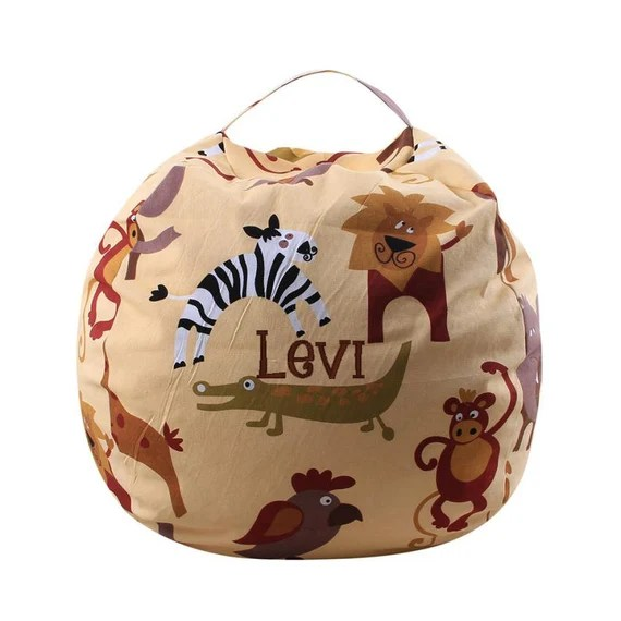 Jungle Animal Storage Bean Bag
