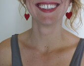 Enamel heart earrings...
