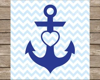 Download Anchor with heart | Etsy
