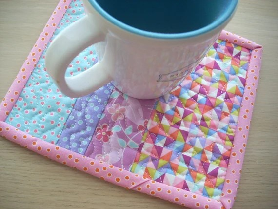 in quiet time mug rug - FREE SHIPPING