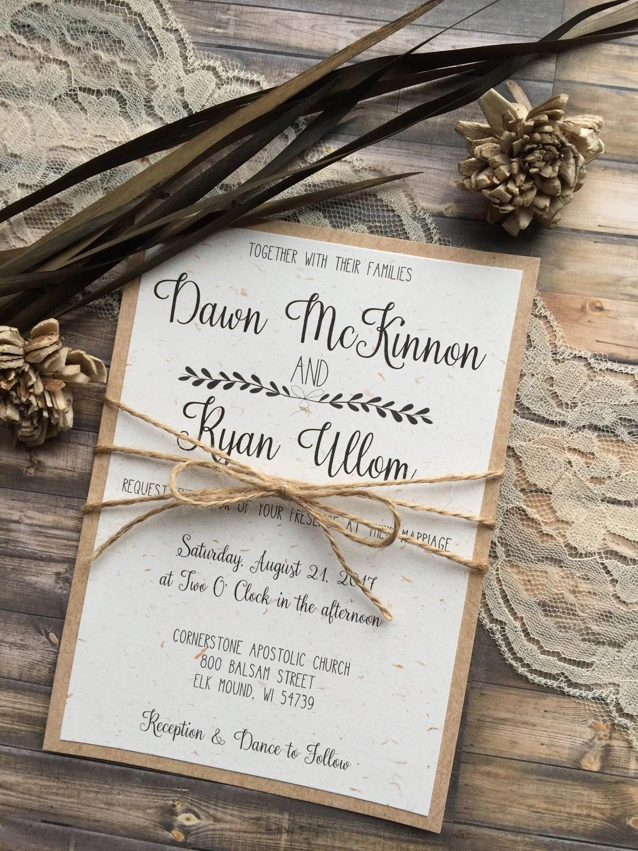 Vintage Barn Wedding Invitations