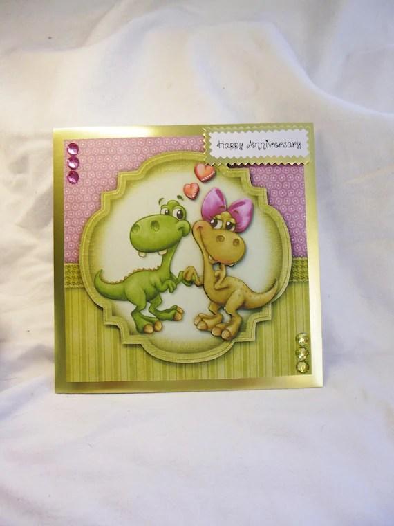 Dinosaur Anniversary Card