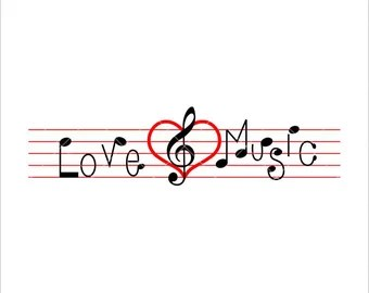 Download Music love | Etsy