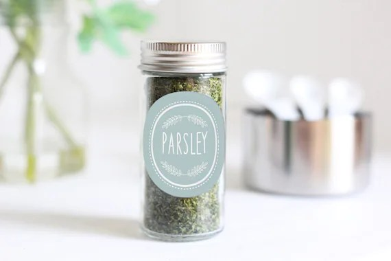 Egg Blue Spice Jar Stick On Labels