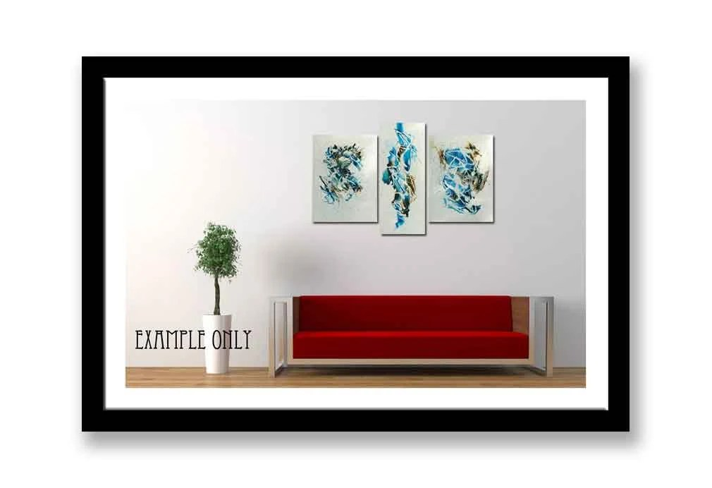 Set of Three abstract ink...
