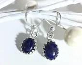 Lapis Lazuli Earrings, Ha...