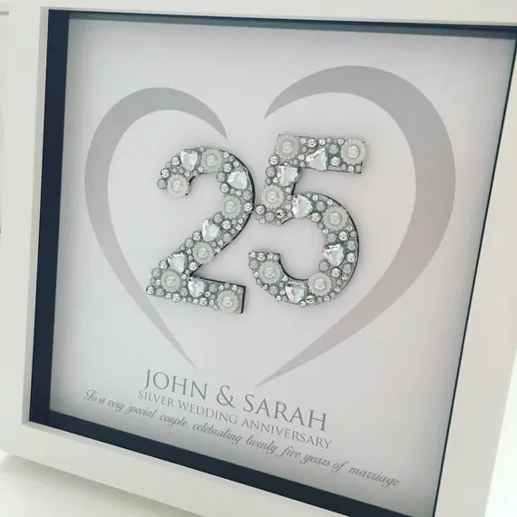 Silver Wedding Anniversary Frame