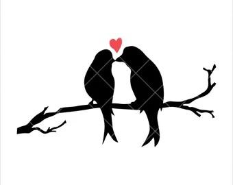 Download Love birds svg   Etsy