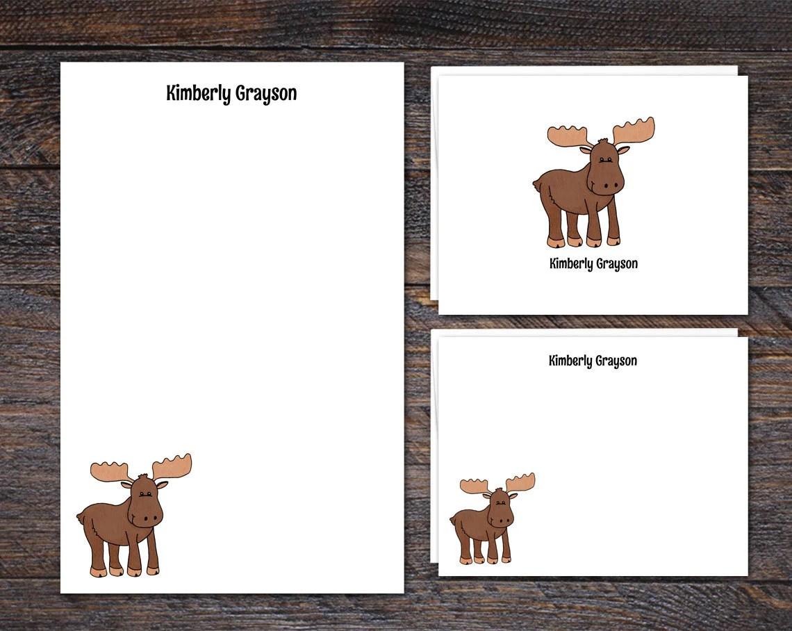 Moose Stationery Set - Pe...