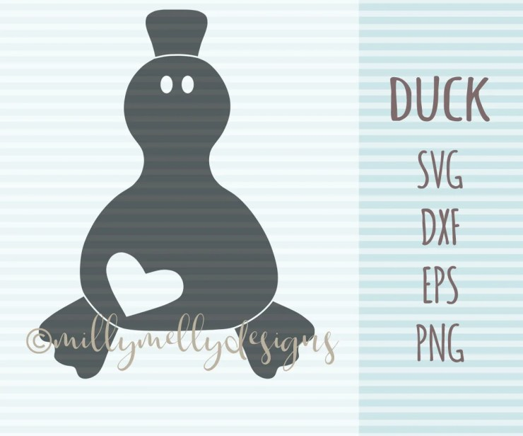 Ducky SVG cut file, digital download