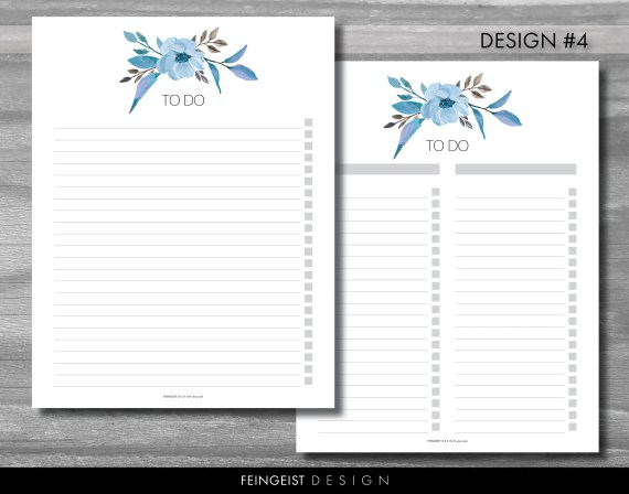 Printable Floral To Do Lists Download