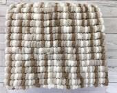 Hand Knitted-Pom Pom Blan...