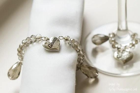 Wine Glass Charm and matching Napkin Ring