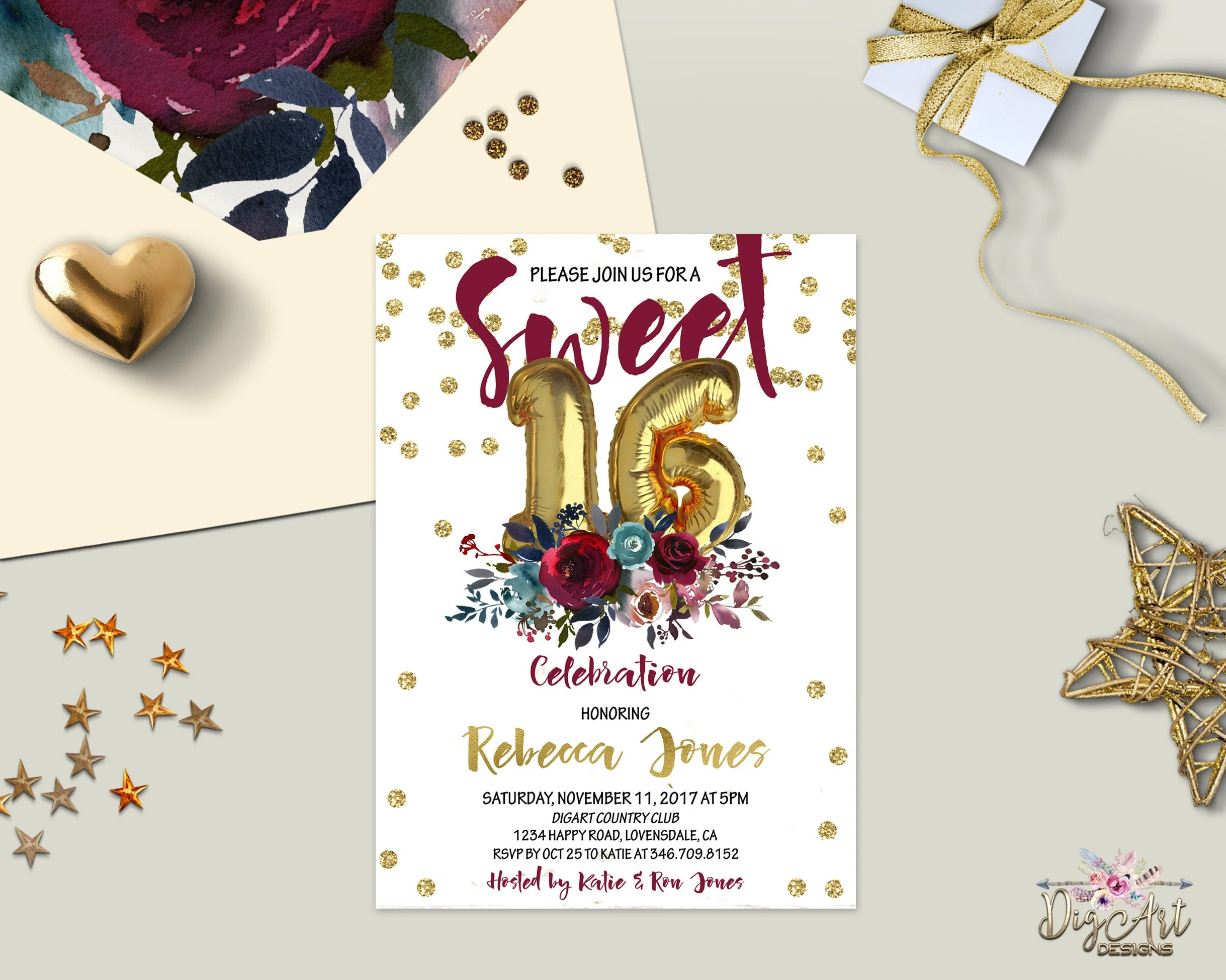 Printable Invitations Quinceanera