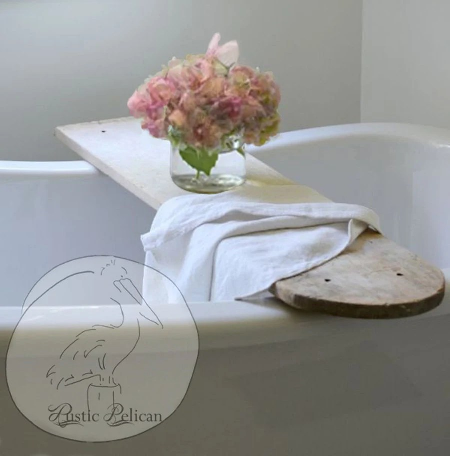 Vintage Bathtub Tray Rustic Wood Caddy Bathtub Tray Bath
