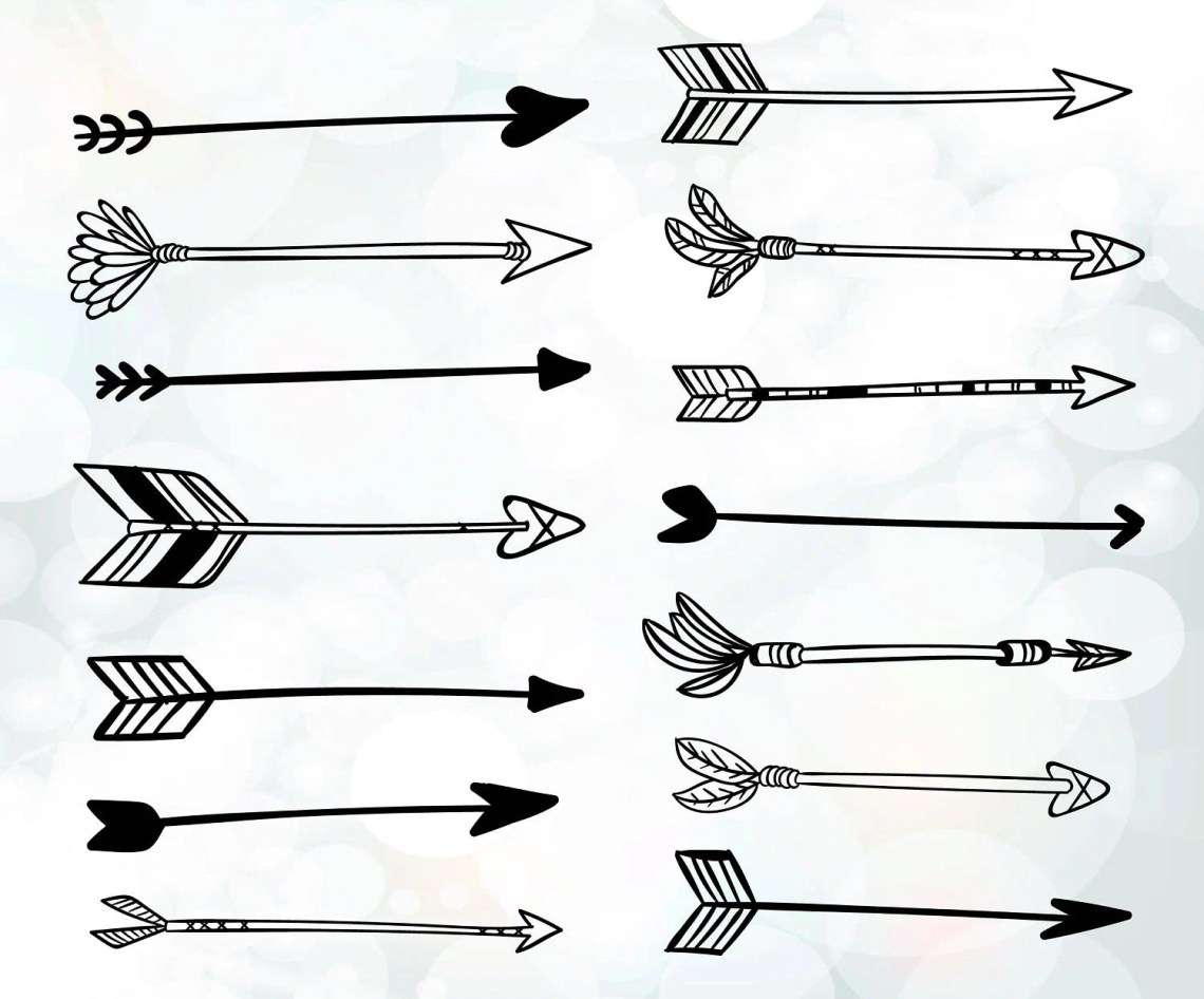 Download Arrows svg files for cutting hand drawn boho arrows