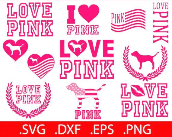 Victoria Pink Dog Svg Secret