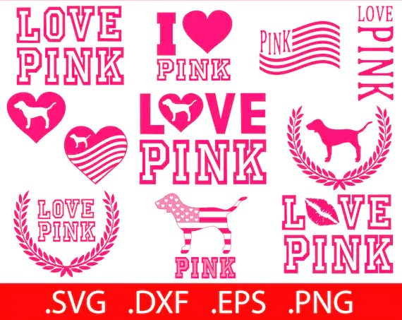 Download Bundle Love Pink SVG File Love Pink Clip Art Love Pink