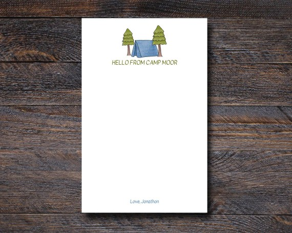 Blue Camp Notepad