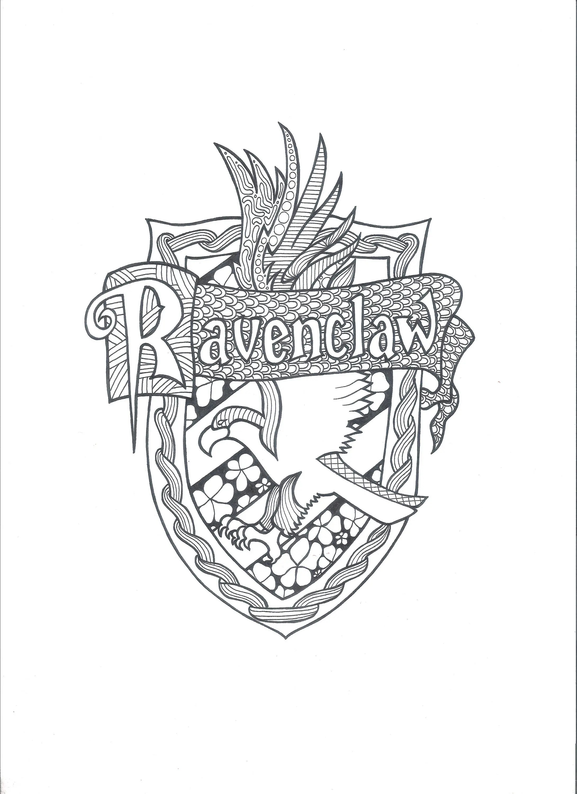Harry Potter Ravenclaw PDF Coloring Page