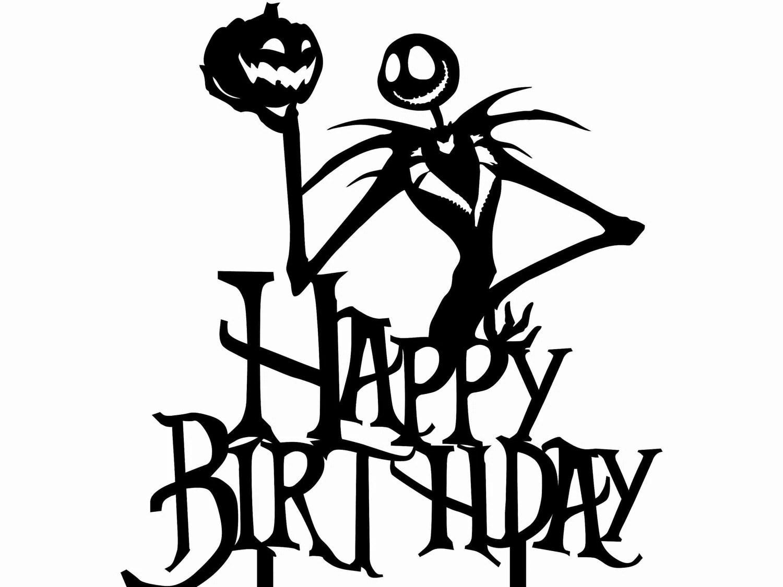 Happy Birthday Jack Skellington Nightmare Before Christmas