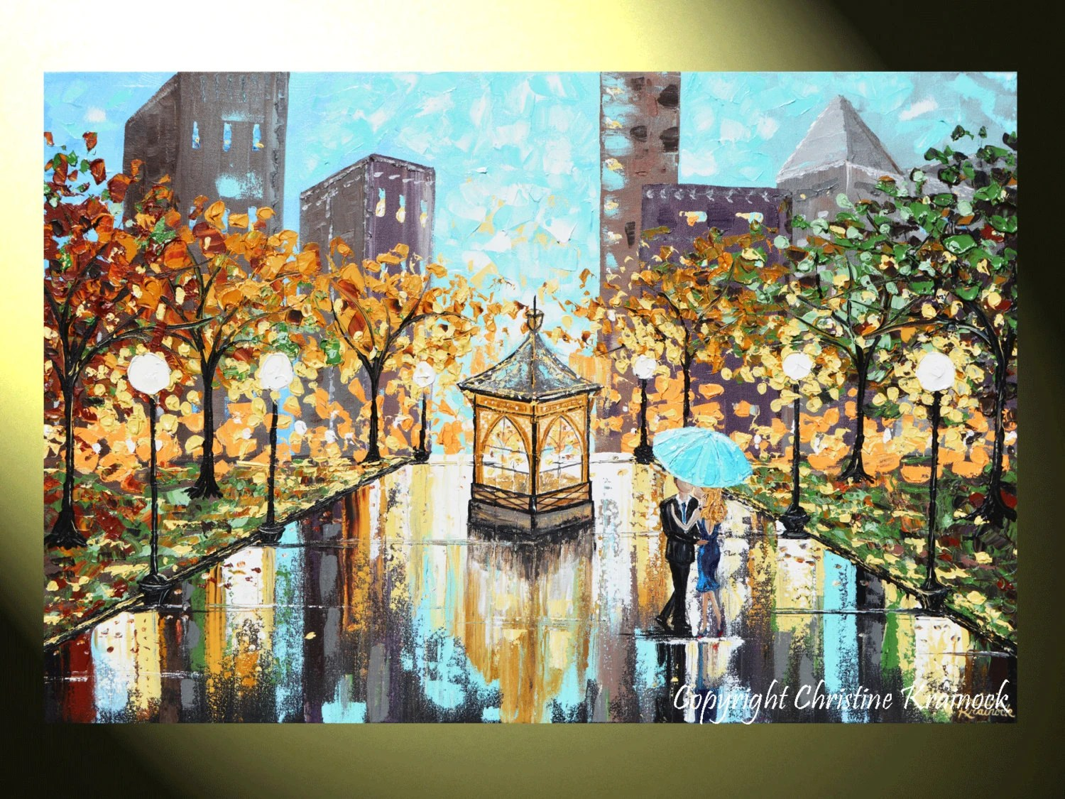 Items Similar To GICLEE PRINT Art Abstract Painting Couple