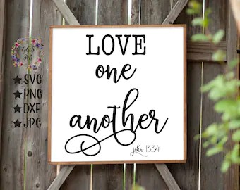 Download Love one another svg | Etsy
