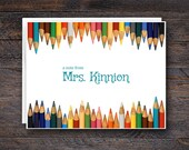 Colored Pencils Note Card...