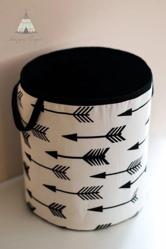 Black & White Toy Basket