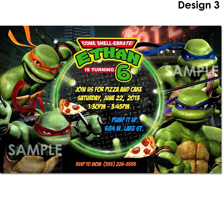Tmnt Teenage Mutant Ninja Turtles Invitation Printable