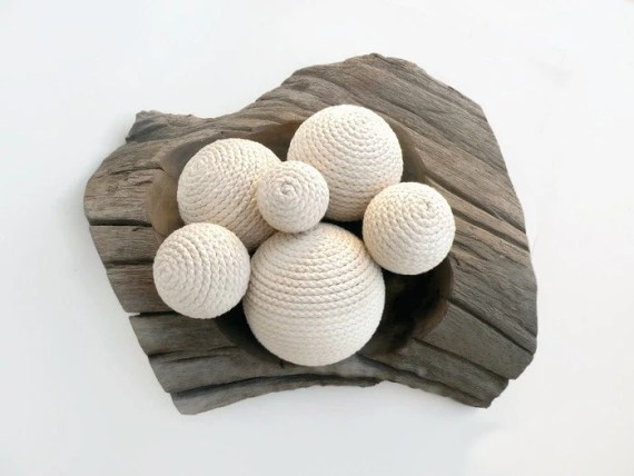 Beach Rope Ball Decor