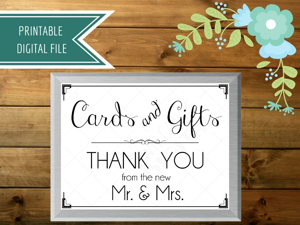 Wedding Card Box Sign Cards And Gifts Sign Gift Table