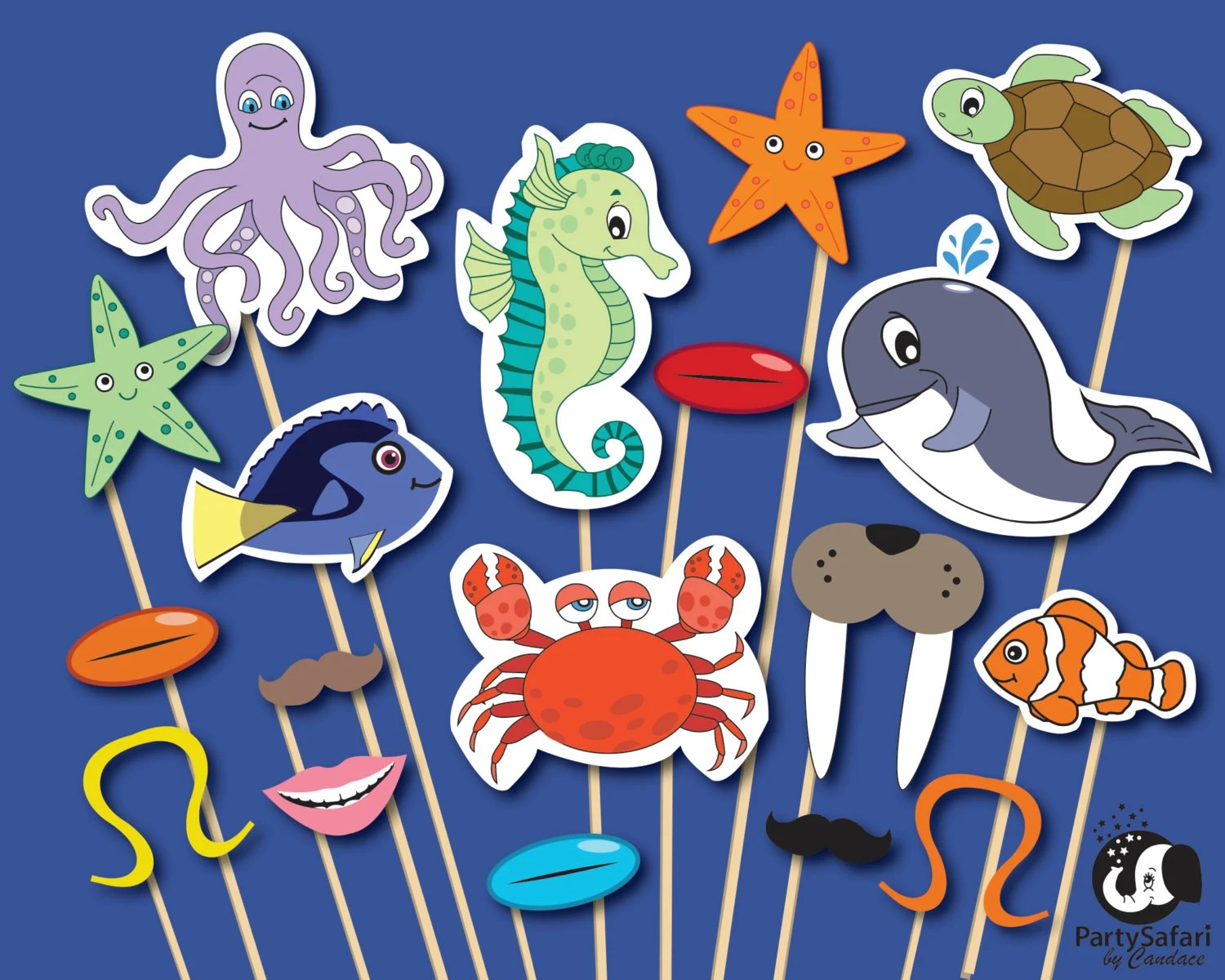 Under The Sea Printable Photo Booth Props Ocean Theme Photo