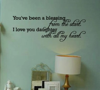 You've Been a Blessing from the Start Wall Decal Quote byIDgrams